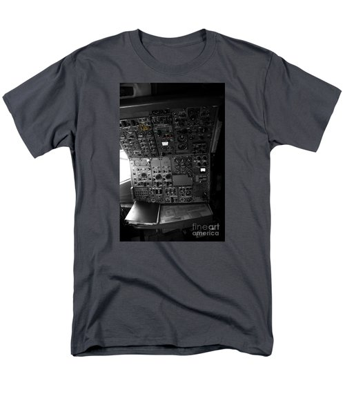 Old Boeing 727 Cockpit Men's T-Shirt  (Regular Fit) by Micah May
