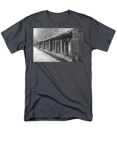 Old Bridge In Black And White Men's T-Shirt  (Regular Fit) by Angi Parks