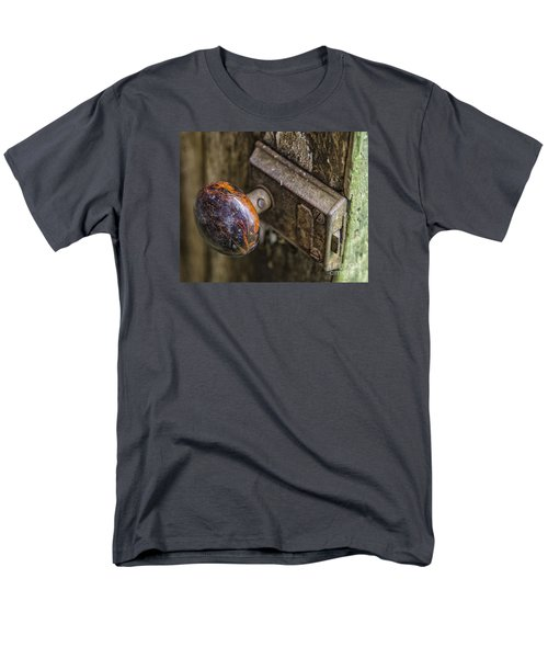 Men's T-Shirt  (Regular Fit) featuring the photograph Old Door Knob by JRP Photography