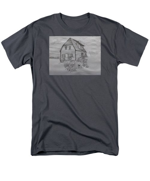 Men's T-Shirt  (Regular Fit) featuring the drawing Old House In Raleigh by Joel Deutsch