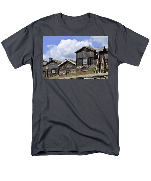 Old Houses In Roeros Men's T-Shirt  (Regular Fit) by Thomas M Pikolin