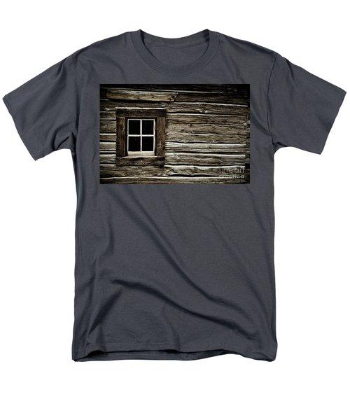 Men's T-Shirt  (Regular Fit) featuring the photograph Old Log Cabin by Brad Allen Fine Art