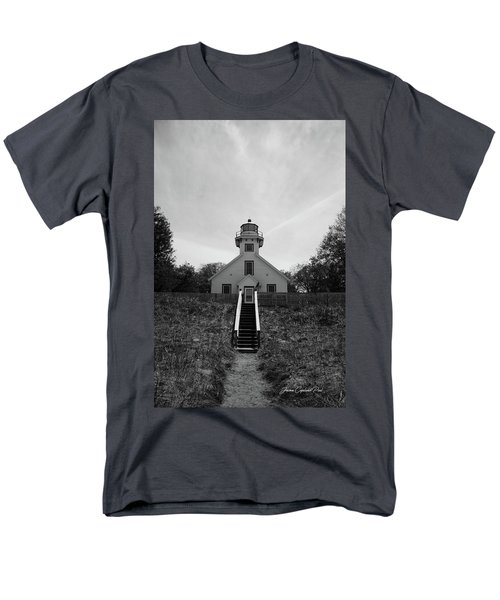 Old Mission Point Lighthouse Men's T-Shirt  (Regular Fit) by Joann Copeland-Paul