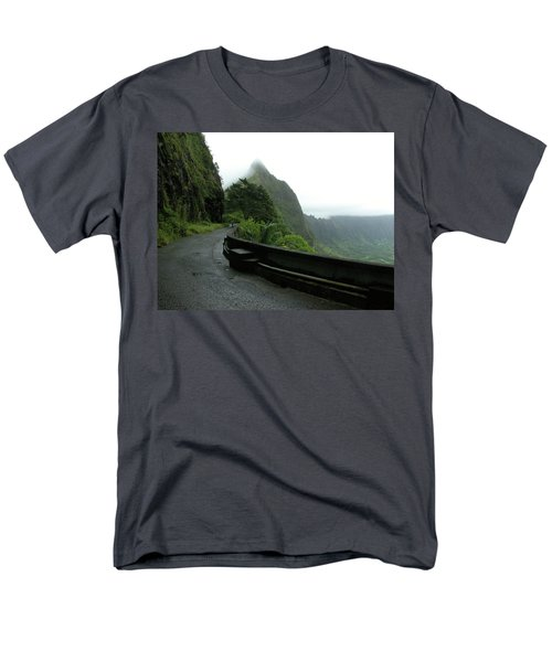 Men's T-Shirt  (Regular Fit) featuring the photograph Old Pali Road, Oahu, Hawaii by Mark Czerniec