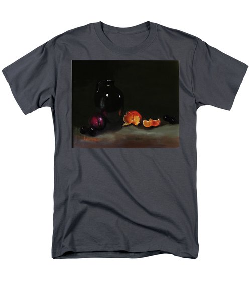 Men's T-Shirt  (Regular Fit) featuring the painting Old Sake Jug And Fruit by Barry Williamson