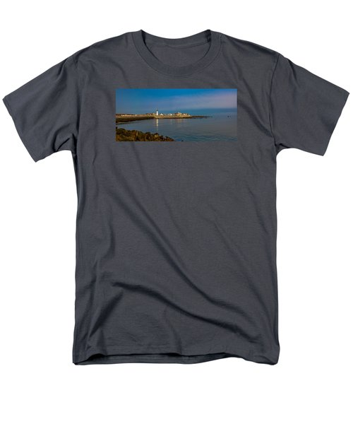 Old Scituate Light From The Jetty Men's T-Shirt  (Regular Fit) by Brian MacLean