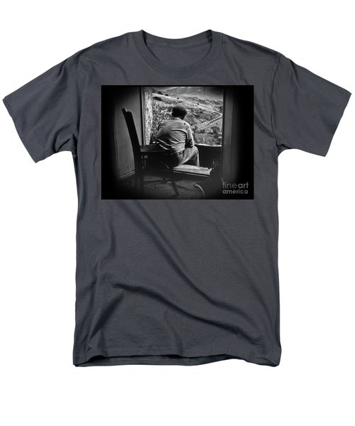 Men's T-Shirt  (Regular Fit) featuring the photograph Old Thinking by Bruno Spagnolo