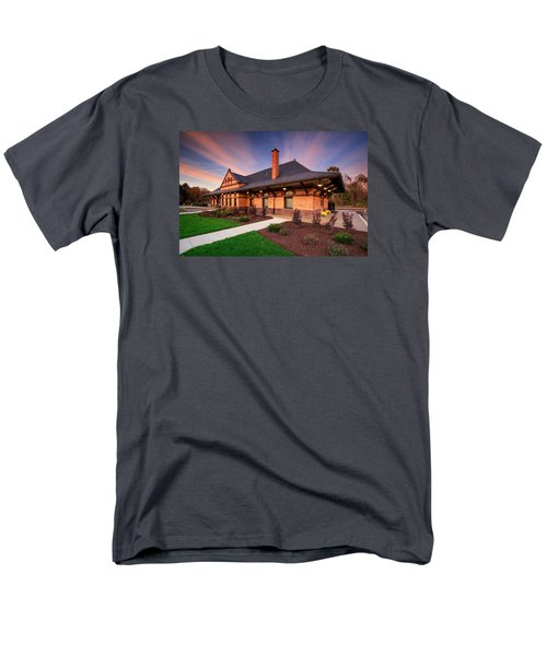 Old Train Station Men's T-Shirt  (Regular Fit) by Emmanuel Panagiotakis