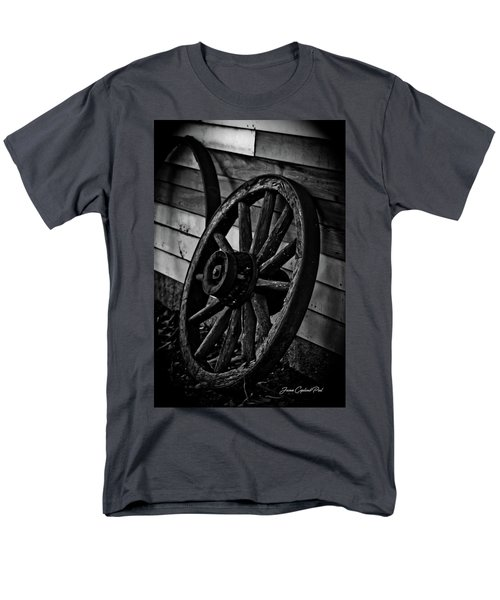 Old Wagon Wheel Men's T-Shirt  (Regular Fit) by Joann Copeland-Paul