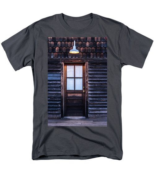 Old Wood Door And Light Men's T-Shirt  (Regular Fit) by Terry DeLuco