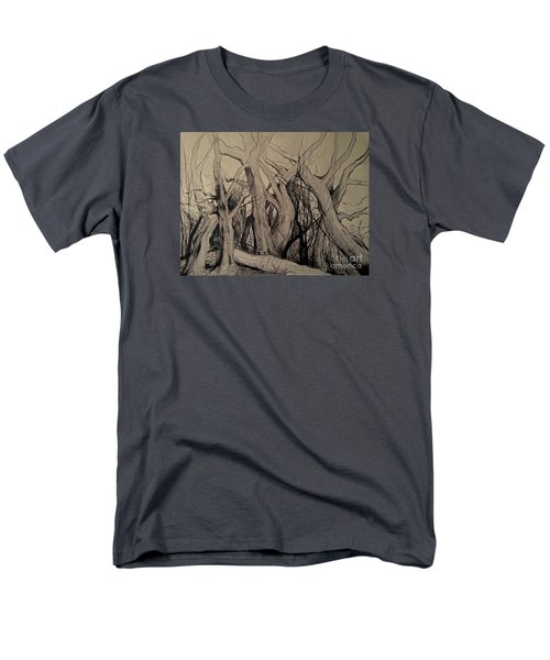 Men's T-Shirt  (Regular Fit) featuring the painting Old Woods by Maja Sokolowska