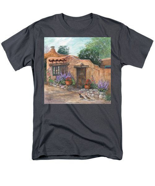Men's T-Shirt  (Regular Fit) featuring the painting Old Adobe Cottage by Marilyn Smith