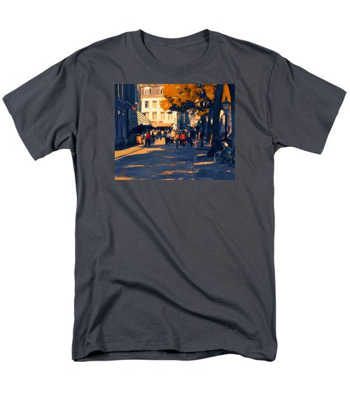 Men's T-Shirt  (Regular Fit) featuring the painting Olv Plein Maastricht In Autumn by Nop Briex