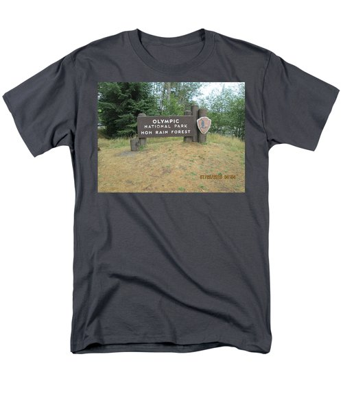 Men's T-Shirt  (Regular Fit) featuring the photograph Olympic Park Sign by Tony Mathews