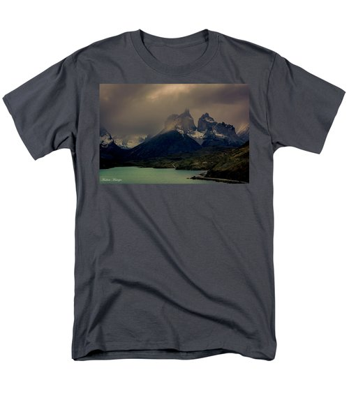 Men's T-Shirt  (Regular Fit) featuring the photograph Ominous Peaks by Andrew Matwijec