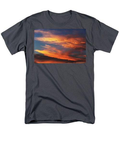 Men's T-Shirt  (Regular Fit) featuring the photograph On Eagle's Wings by Karen Slagle