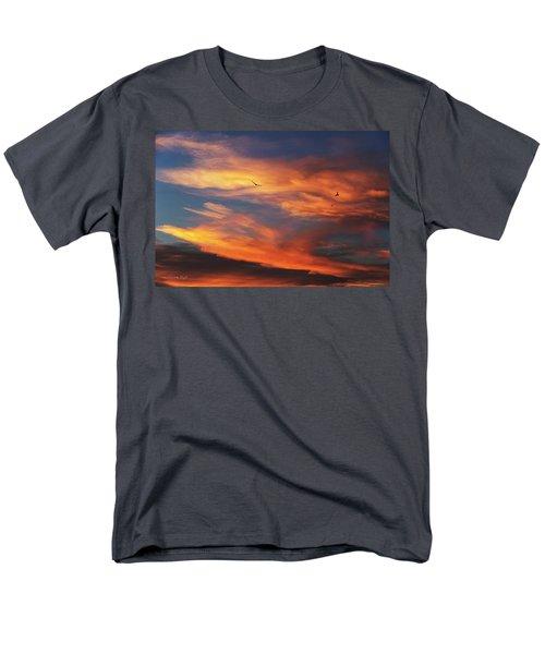 On Eagle's Wings Men's T-Shirt  (Regular Fit) by Karen Slagle