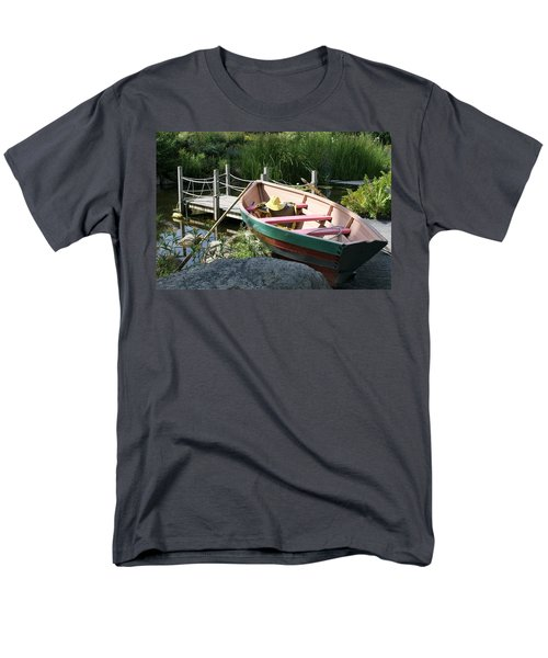 Men's T-Shirt  (Regular Fit) featuring the photograph On The Dock by Lois Lepisto