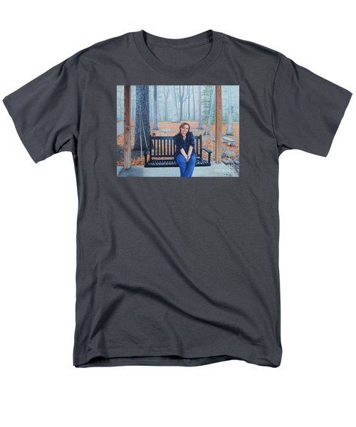 On The Porch Swing Men's T-Shirt  (Regular Fit) by Mike Ivey