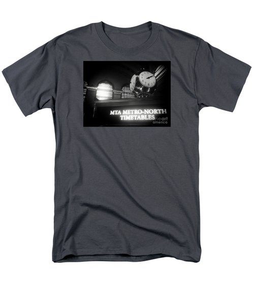 Men's T-Shirt  (Regular Fit) featuring the photograph On Time At Grand Central Station by James Aiken