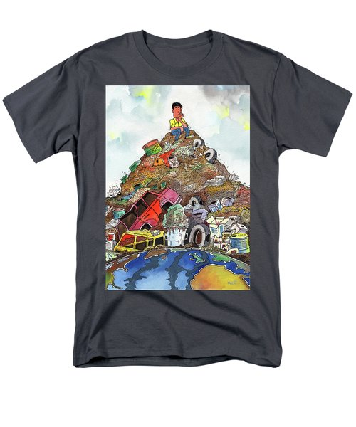 Men's T-Shirt  (Regular Fit) featuring the painting On Top Of Things by Anthony Mwangi