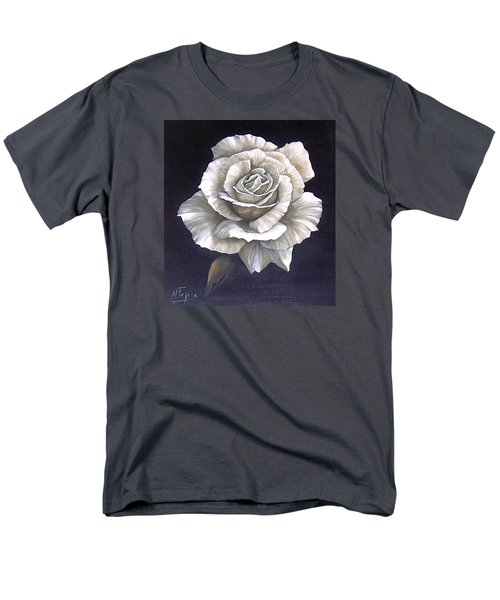Men's T-Shirt  (Regular Fit) featuring the painting Opened Rose by Natalia Tejera