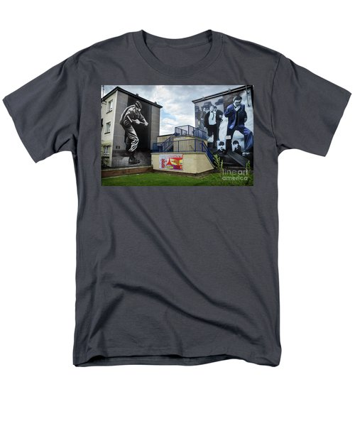 Operation Motorman Mural In Derry Men's T-Shirt  (Regular Fit) by RicardMN Photography