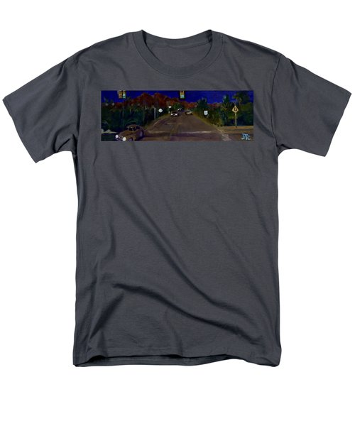 Men's T-Shirt  (Regular Fit) featuring the painting Orange Grove And La Canada by Julie Todd-Cundiff