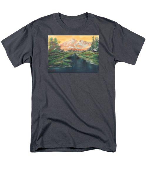 Orange Mountain Men's T-Shirt  (Regular Fit)