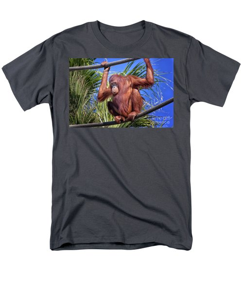 Orangutan On Ropes Men's T-Shirt  (Regular Fit) by Stephanie Hayes