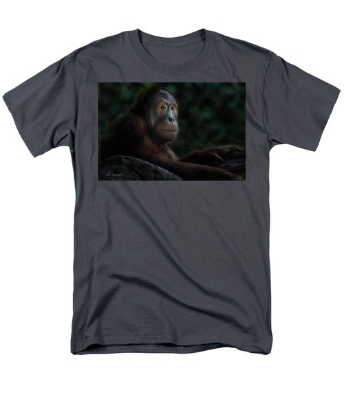Orangutan Session Men's T-Shirt  (Regular Fit) by CR  Courson