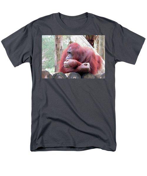 Orangutang Contemplating Men's T-Shirt  (Regular Fit) by Rosalie Scanlon