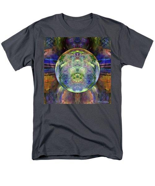 Men's T-Shirt  (Regular Fit) featuring the digital art Orbital Symmetry by Robin Moline