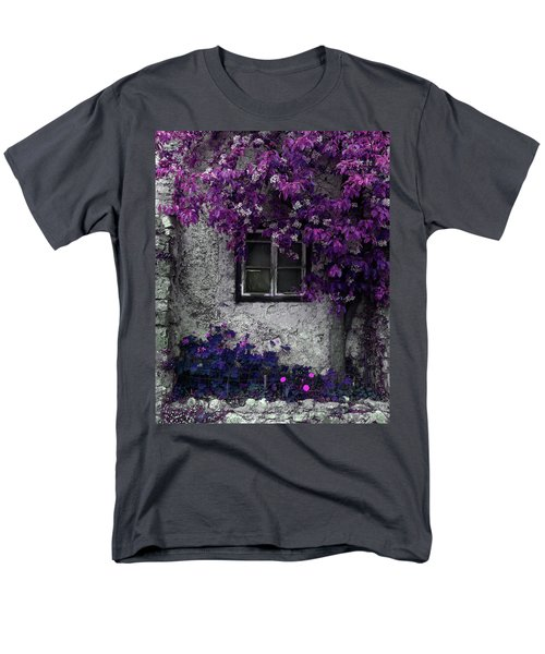 Orchid Vines Window And Gray Stone Men's T-Shirt  (Regular Fit) by Brooke T Ryan