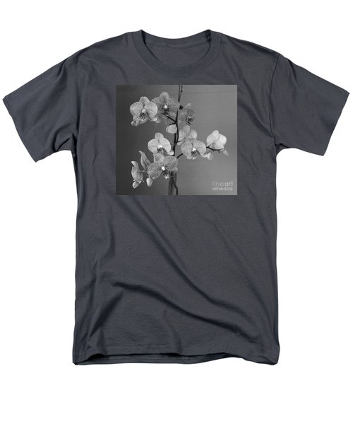 Men's T-Shirt  (Regular Fit) featuring the photograph Orchids Black And White by Jeanette French