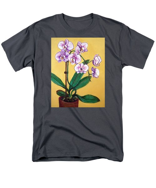 Men's T-Shirt  (Regular Fit) featuring the painting Orchids by Laura Aceto