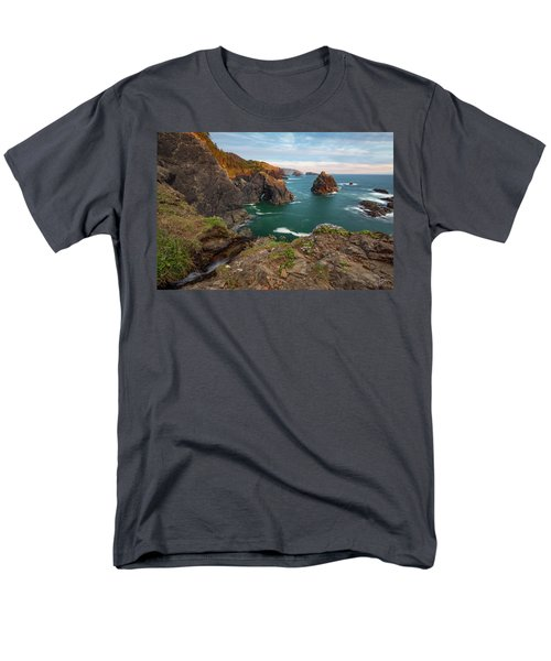 Men's T-Shirt  (Regular Fit) featuring the photograph Oregon Coastal Scenic by Leland D Howard