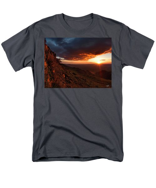 Men's T-Shirt  (Regular Fit) featuring the photograph Oregon Mountains Sunrise by Leland D Howard