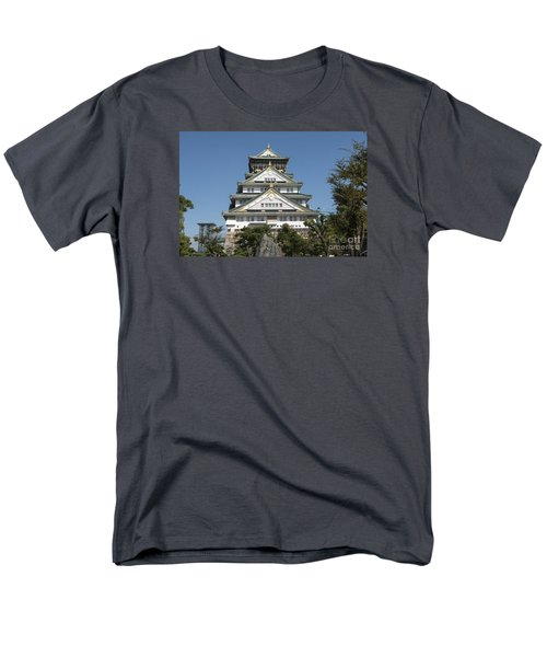 Men's T-Shirt  (Regular Fit) featuring the photograph Osaka Castle by Pravine Chester