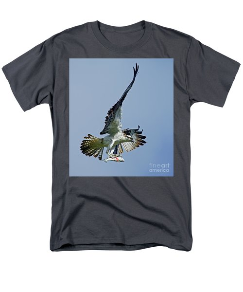 Men's T-Shirt  (Regular Fit) featuring the photograph Osprey Success by Larry Nieland