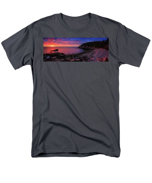 Men's T-Shirt  (Regular Fit) featuring the photograph Otter Beach Maine Sunrise  by Emmanuel Panagiotakis