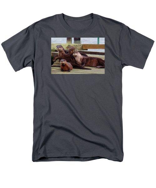 Otter Party In Bellingham Men's T-Shirt  (Regular Fit) by Karen Molenaar Terrell