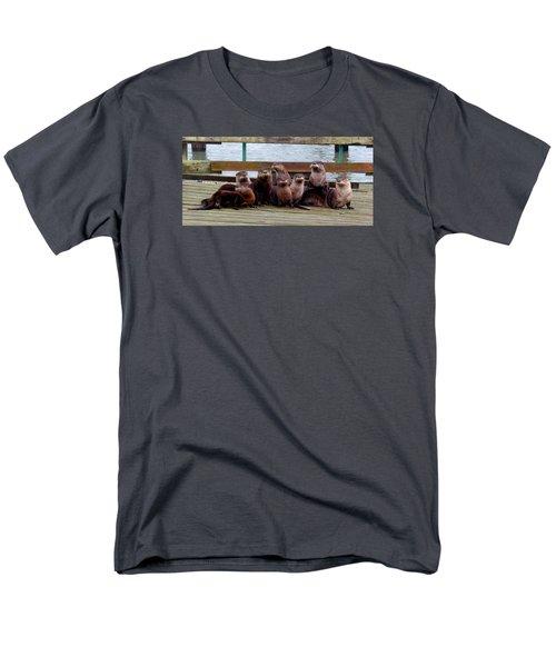Otters Posing Men's T-Shirt  (Regular Fit) by Karen Molenaar Terrell