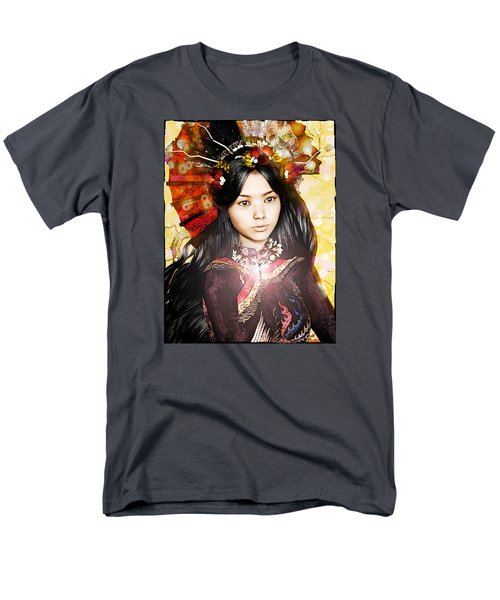 Men's T-Shirt  (Regular Fit) featuring the painting Our Lady Of China by Suzanne Silvir