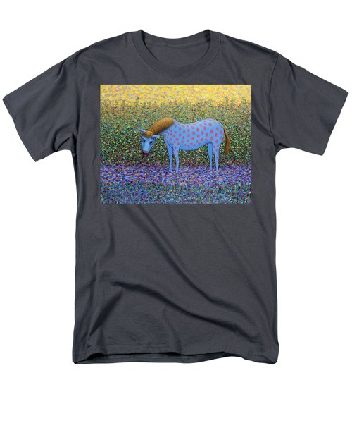 Men's T-Shirt  (Regular Fit) featuring the painting Out Of The Pasture by James W Johnson