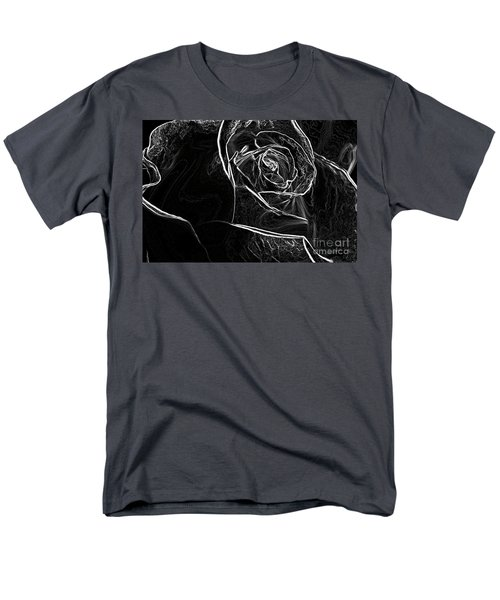 Men's T-Shirt  (Regular Fit) featuring the photograph Outline Of A Rose by Micah May