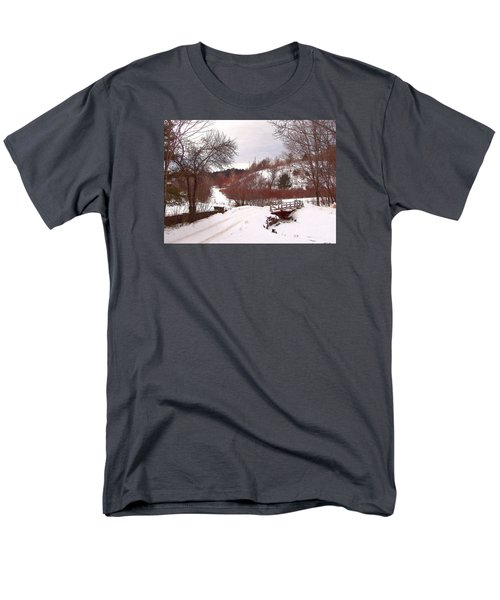 Men's T-Shirt  (Regular Fit) featuring the photograph Over The River by Betsy Zimmerli