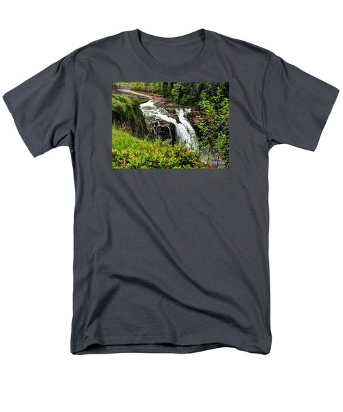 Overlooking Snoqualmie Falls Men's T-Shirt  (Regular Fit) by Chris Anderson