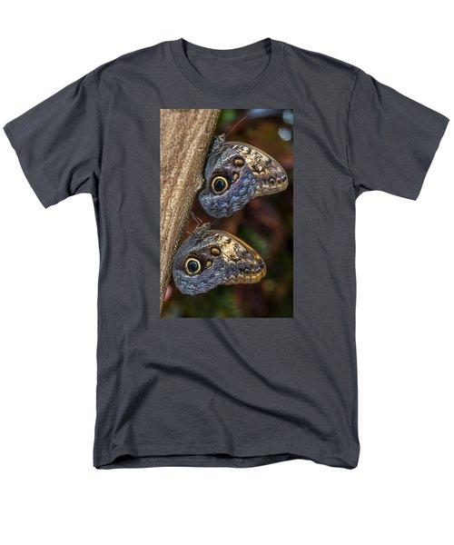 Men's T-Shirt  (Regular Fit) featuring the photograph Owl Butterflies by Jerry Cahill