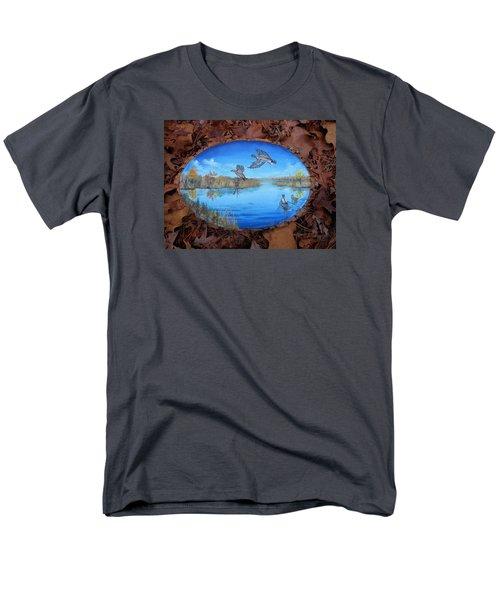 Oyster Creek Flock Men's T-Shirt  (Regular Fit) by Kevin F Heuman